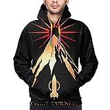 Nksadfjtyy Chris Cornell Scream Herren Sweatshirts Herren Kapuzen Sweatshirt Langarm 3D Bedruckter Kapuzenpullover