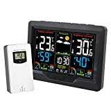 Sonline Wetter Station Drahtloses Thermometer Hygrometer Digitales Temperatur Feuchtigkeits Mess GerrT Vorhersage LCD Anzeige Sensor 3383C