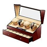 Automatischer Uhrenbeweger mit leisem Motor, 5 Rotationsmodi, Uhren-Aufbewahrungsbox, für Herren und Damen, Uhren, Urlaubsgeschenk, WTZ012 (Farbe: A)