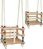alles-meine.de GmbH Gitterschaukel - UMBAUBAR - mit abnehmbaren Gurt - Schaukel aus Holz - mitwachsend & verstellbar - Babyschaukel / Kinderschaukel - Leichter Einstieg ! - Holzg