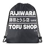 LREFON Anfänglicher D - wara Tofu Shop Sporttasche Gym Sack Kordelzug Rucksack