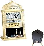 FDYD Azan Clock Athan Gebetsuhr, Gebetszeit Wanduhr, Moschee, Masjiduhr Mit Kompletter Azan Für Alles Gebet, Größer Für Zuhause, Büro Und Moschee Gold,G