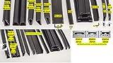 Kantenschutz Fassungsprofil EPDM Gummiprofil Gummidichtung Gummi U-Profil Keder Schellenprofil (1m, RS11152)