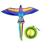 OMKMNOE Kinder-Drachen, Goldfischdrachen, Einleiner Flugdrachen Für Kinder Ab 3 Jahren,300M Drachenschnur, Geeignet Für Kinder Und Jugendliche,Blau