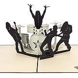 PaperCrush® Pop-Up Karte Rock & Roll Konzert - Besondere 3D Geburtstagskarte für Männer (Freund oder Mann) - Geschenkkarte zum Geburtstag für Ihn, Gutschein für Festival oder Konzertkarten