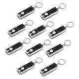 VADIV Schlüsselanhänger Lampe Led (10er/Pack) Schlüsselanhänger mit Licht Klein Taschenlampe Schlüsselring Bewegliche Dünne Mini Leichte Lampen-Chlüsselkette Notfallhilfe 45 Lumen Micro Licht