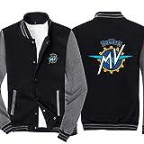 FAIBOO Herren Sweatshirt MV Printed Sweatshirt Baseball Uniform Langarm Teen Geschenk Grau XL