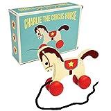 Rex London Holzspielzeug zum ziehen Charlie The Circus Hourse : Zirkuspferd Nachziehspielzeug, Motorikspielzeug