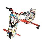 CCCYT Elektrische Drift-Trikes Kart Electric Scooter Höchstgeschwindigkeit 20 km/Stunde Motors Kinder Elektro Driftscooter 360 Grad 250 Watt Elektromotor 3 Geschwindigkeitsstufen