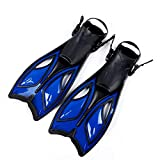 JWDS Taucherflossen Tauchflossen Erwachsener Schnorcheln Fuß Flipperer Anfänger Schwimmen Flossen Ausrüstung Tragbare Kurze Frosch Schuhe Frauen Männer Wassersport
