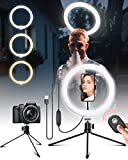 """Ringlicht mit Stativ & HandyHalter, 10"""" LED Ringleuchte mit Fernbedienung, Selfie Extra Licht mit 3 Farben und 10 Helligkeitsstufen für Make-up, YouTube-Video, Instargram, Vlogging, Live-Streaming"""