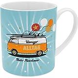 H:)PPY life 47382 XL-Tasse Bus, Porzellan, 60 cl