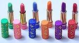 Hare 33 Colores Marokkanische Lippenstifte / magische Lippenstifte, Set mit 6Stück (Schwarz, Violett, Grün, Orange, Rosa, Blau)