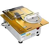 Tragbare Tischkreissäge , Mini anhebbare Tischsäge, Leistung 96w Tischsägen mit Kreissägeblatt, geräuscharmem Rauschen, Winkellineal 0-90 ° einstellbar, Schneidwerkzeuge mit variabler Geschwindigkeit