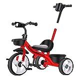 Kinder-Dreirad, Kinderspielzeugrolle, Fahrrad, Kinderwagen, Jungen- und Mädchen-Dreirad, 1-3-2-6 Jahre alter Kinderwagen, Fahrrad