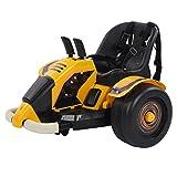 Bnineteenteam Kinder-Autoscooter-Set, Kinder-Elektro-Tretautos Allrad-Rennwagen mit 360-Grad-Drehung und Sicherheitsgurt für Kinder im Alter von 3-8 Jahren(UK)