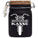 Spardose Motorrad Kasse Geld Geschenk Idee Schwarz L