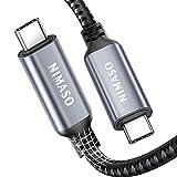 Nimaso Thunderbolt 3 Kabel(1M),USB Typ C zu USB C Thunderbolt 3 Kabel 40 Gbit/s Datenübertragung/100 W/5 A Aufladen/5 K bei60 Hz Kompatibel mit 2020/2018/2017 MacBook,iMac,Externe SSD