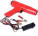 RELAX4LIFE Zündeinstelllampe, Zündzeitpunktpistole 12V, Zündung Timing Light, Zündlichtpistole inkl. Klammern, Stroboskoplampe für für Motorrad, Auto, Blitzpistole Rot, 8000U/min, 250 x 55 x 180