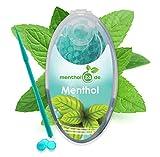 menthol24de - Premium Menthol Aroma Kapseln 100er Set   DIY Menthol Click Filter Kapseln   Inkl. Box zur Aufbewahrung der aromatischen Hülsen Kugeln