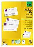 SIGEL DP830 Visitenkarten hochweiß, 150 Stück (15 Blatt), 185 g, 85x55 mm - weitere Stück