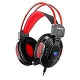 Freljorder H550 Kabelgebundenes Headset Gaming-Headset Atemlicht 7.1 Stereo Surround Bass