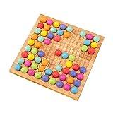Spielset Go aus Holz – Dots Shuttle Beads Brettspiel für Kinder – für Linien mit Regenbogen-Clip Puzzle mit Clip aus Holz, Regenbogen-Spielzeug – Brettspiel