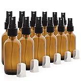 Xiton 12 PCS Leere GlassprüHflaschen Braune äTherisches ÖL Sprayer Aromatherapie-SprüHflaschen Kartoffelwasserspray Flaschen FüR Die Reise Nach Hause BüRo (50 Ml)