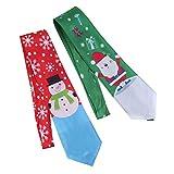 STOBOK Weihnachtsmann Krawatten Herren Weihnachten Schmale für Party Kostüm 2 Stück