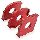 Timagebreze Set mit 3 Radius Jig Router Vorlagen, Aluminium Legierung Routing Abgerundete Ecken Router Vorlagen R10 R15 R20 R25 R30 R35