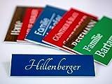 Klingelschild Türschild mit Gravur Türschilder in versch. Größen und Farben für die Haustür - Briefkasten Namensschild selbstklebend Briefkastenschild Rot Schwarz Holz Weiß