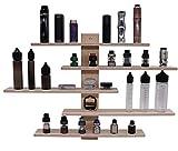 Wandregal Vape Shelf Organizer Design Halter für Verdampfer, Atomizer E-Zigarette, 12x Plätze mit 510er Gewinde