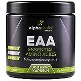 EAA Kapseln vegan - alle 8 essentiellen Aminosäuren hochdosiert inkl. BCAA - ohne Magnesiumstearat - essential amino acids (300 vegane Kapseln)