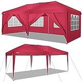 COBIZI 3X6M Pavillon Pop Up Baldachin Hochzeitsfeier Zelt Lagerung Shelter Outdoor Gazebo Beach Camping Baldachin mit 6 abnehmbaren Seitenwänden