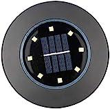 Solar gartenleuchten Solare Bodenbeleuchtung Außenbeleuchtung Solargarten Lichter 4 Packung |Sonnengrundleuchten Mit 8 LED-Lampen Solarbetriebene Scheibenlichter Für Patio-Rasenpfad-Yard-Beleuchtung