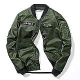 Männer Bomberjacken Lässige Männliche Outwear Windjacke Mäntel Hip Hop Slim Pilot Baseballjacken Green XXXL