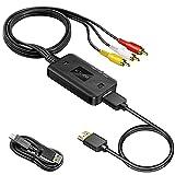 RCA auf HDMI Konverter Kabel, MISOTT Composite CVBS AV RCA zu HDMI Konverter, Composite CVBS AV auf HDMI Konverter für PS2/N64/Wii/DVD/XBOX