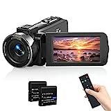 Videokamera Camcorder, MELCAM 1080P 30FPS Vlogging Kamera Recorder für YouTube, FHD IR Nachtsicht Camcorder 3.0 '' IPS-Bildschirm 16X Digital Zoom Digitalkamera mit Fernbedienung