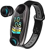 X&Z-XAOY 2 In 1 KI-Smartwatch Mit Bluetooth-Kopfhörer- Aktivitäts-Fitness-Tracker Intelligentes Armband Langes Standby Smartwatch-Armband BT 5.0 Smartwatch