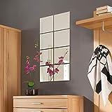 Wohaga® 8 Stück Spiegelfliesen Set Spiegelkachel Fliesenspiegel Spiegel je 20,5x20,5cm Wanddekoration Wandspiegel