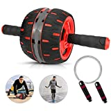 CnFPX Roller Bauchroller Set, AB Wheel Bauchtrainer mit wider Abdominal Roller für Zuhause, zum Trainieren von Bauchmuskeln, Rücken Schultern