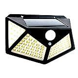 Solarlampen für Außen 100 LED,Koqit 1 Stück【Automatische Beleuchtung】Solarlampe für Außen mit Bewegungsmelder Solarleuchten [1200 mAh]-3 Optionale Modi,IP65 Wasserdichte Wandleuchte,Außenwandleuchten