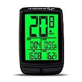 WFGF INBIKE Fahrrad-Tachometer und Kilometerzähler Wireless IPX6 Wasserdichter Fahrrad-Fahrradcomputer Wireless zur Verfolgung von Fahrgeschwindigkeit und -entfernung, Uhr usw.
