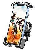 Cocoda Handyhalterung Fahrrad, Handyhalterung Motorrad mit Edelstahlklemme & 4 Anti-Shake Schutzecke, 360° Drehbar Handyhalter für 4,7-7,0 Zoll Handy, Kompatibel mit iPhone 12 Pro Max/ 12 Pro/ 12 Mini