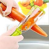 HONGRU Sparschäler, Kartoffelschäler, Gemüseschäler, Obstschäler mit Auffangbehälter, Einfache Reinigung und Schnelles Schälen, Julienne Schäler mit Behälter für Gemüse und Obst