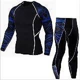 IDE Play Herren Thermo-Unterwäsche Anzug, sportlich Lange John Leggins, Wintersport Kompressionsanzug, geeignet für Ski-Laufen,Number4,M