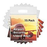 MOCOCITO Zip-Beutel | 12/15 Stück 20 x 20cm | Dry-Bag Wasserdicht Geruchsdicht & Sicher | Flugzeug-Reise-Zulassung | Kulturbeutel Beutel Transparent (15PCS)