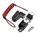 Diebstahlsicherung Scheibenbremse, Scheibenbremsenverriegelung, mit Erinnerungskabel für Mini Xiaomi Mijia M365 Ninebot Elektro-Smart-Scooter-Skateboardräder sperren Diebstahlsicher (black)
