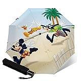 Mickey Cartoon Maus Goofy Donald Duck Faltbarer Leichter Winddicht Wasserdicht Sonnenschutz Automatischer Regenschirm