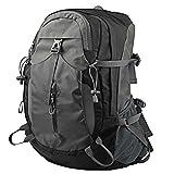 WDEEFR Gaopin 45l wasserdichter Leichter Wanderung im Freien-Angelrucksack im Freien mit Regenschutz (Color : Black Gray, Size : 45L)